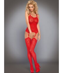 F206 Red szexi testruha, cicaruha *