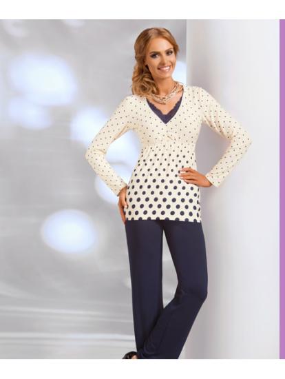 SONIA Ekrü  női pizsama
