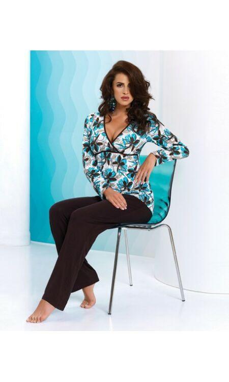 OLIVIA türkíz-barna női pizsama