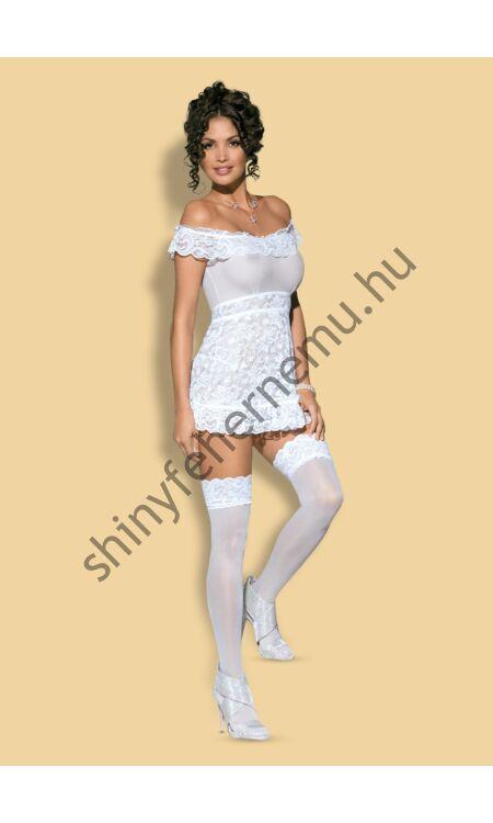 FLORES White fehérnemű, szexi babydoll + tanga