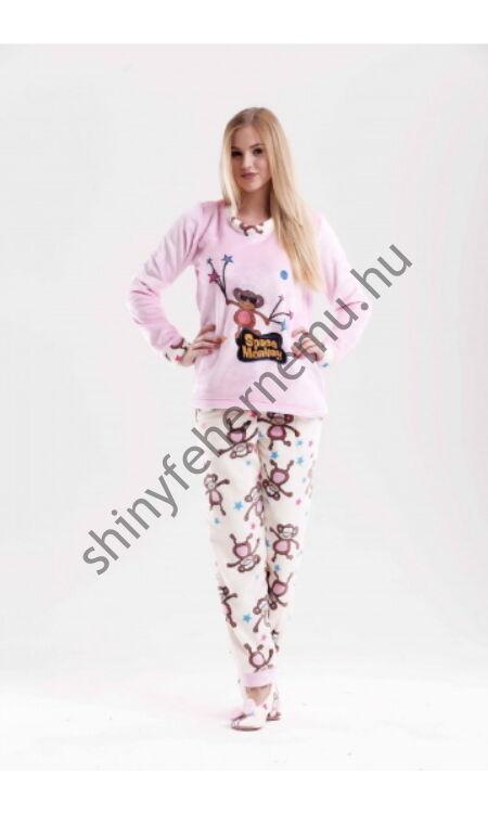Poppy pizsama Nice SPACE MONKEY ekrü