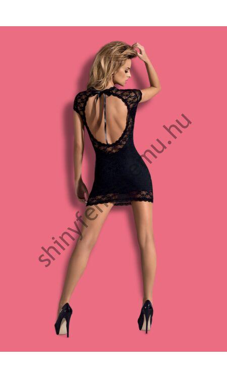 DRESSITA Black szexi dress+tanga