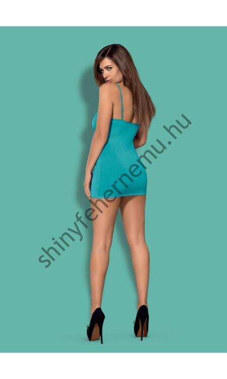 BLACKARDI Turquoise fehérnemű,  szexi hálóing + tanga