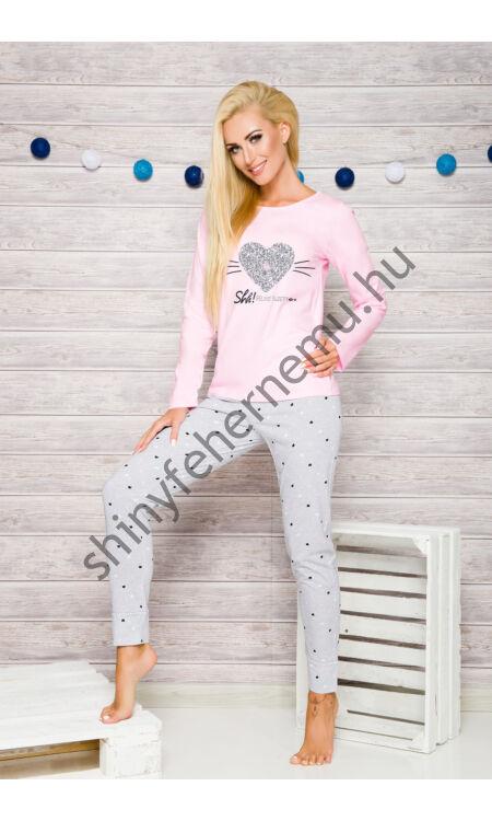 GALA Pink-grey női pizsama