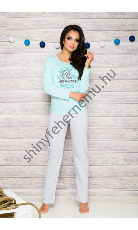 SYLWIA Blue-grey női pizsama