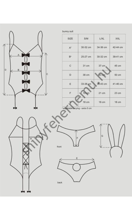 BUNNY Suit 4 részes erotikus jelmez