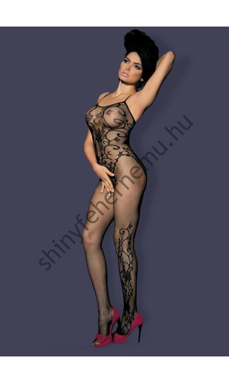 F205 Black fehérnemű,  szexi cicaruha, testruha