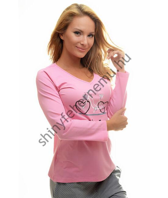 POPPY Chill Bicikli pizsama pink-szürke