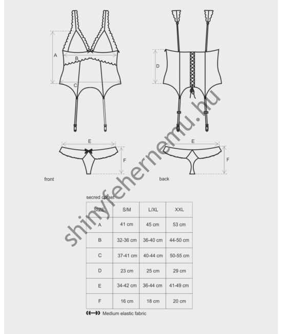 SECRED szexi corset, fűző + tanga