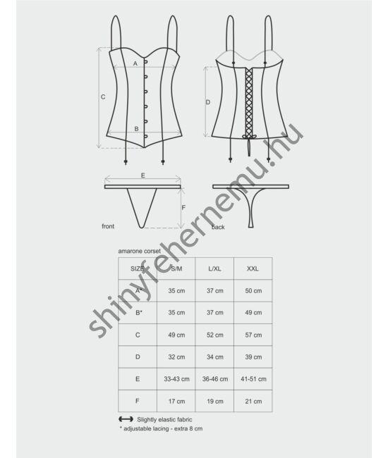 AMARONE corset, fűző + tanga