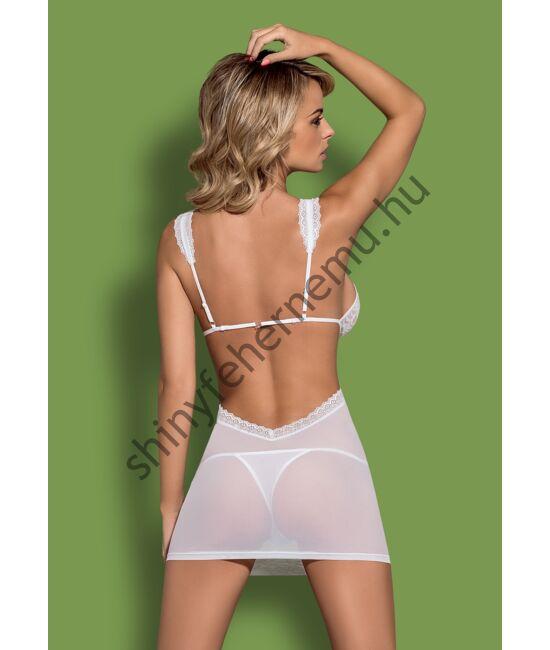 SWANITA White fehérnemű,  szexi női hálóing+tanga