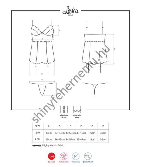 LOVICA szexi corset, fűző + tanga