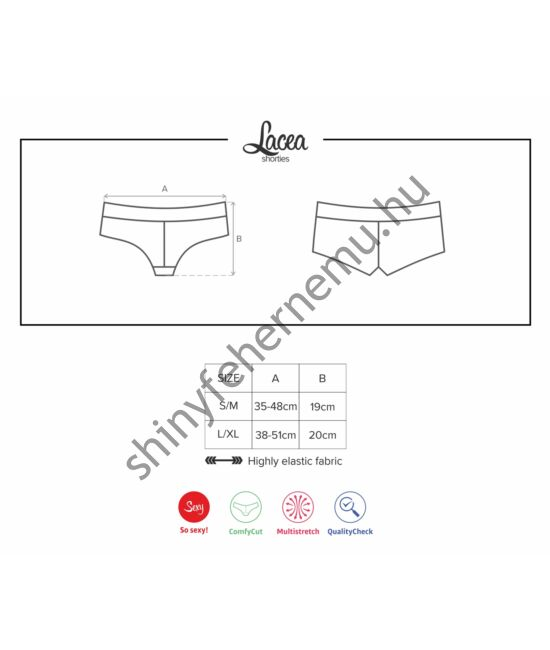 LACEA Shorties Red+Black, duo pack (2db)