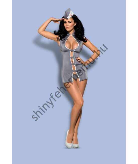 STEWARDESS Dress, 3 részes erotikus jelmez XXL