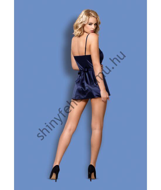 SATINIA Blue fehérnemű, szexi hálóing+tanga XXL