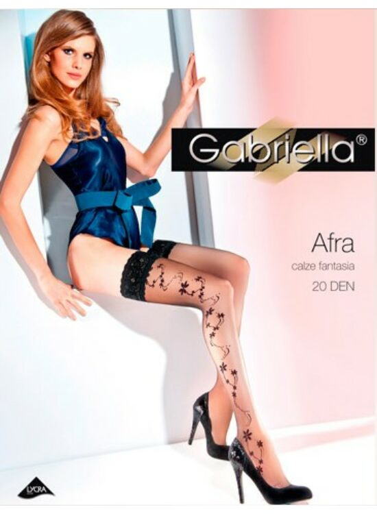 Gabriella AFRA Black 20denes, szilikonos combfix