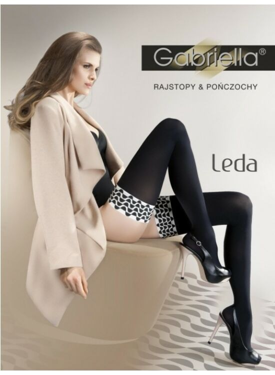 Gabriella LEDA 60den szilikonos combfix