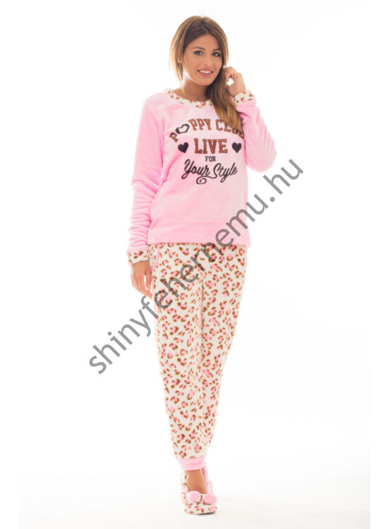 Poppy pizsama Nice Poppy Club pink ocelot