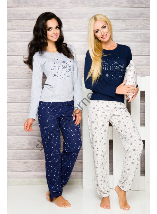 DAGA Grey-d.blue női pizsama