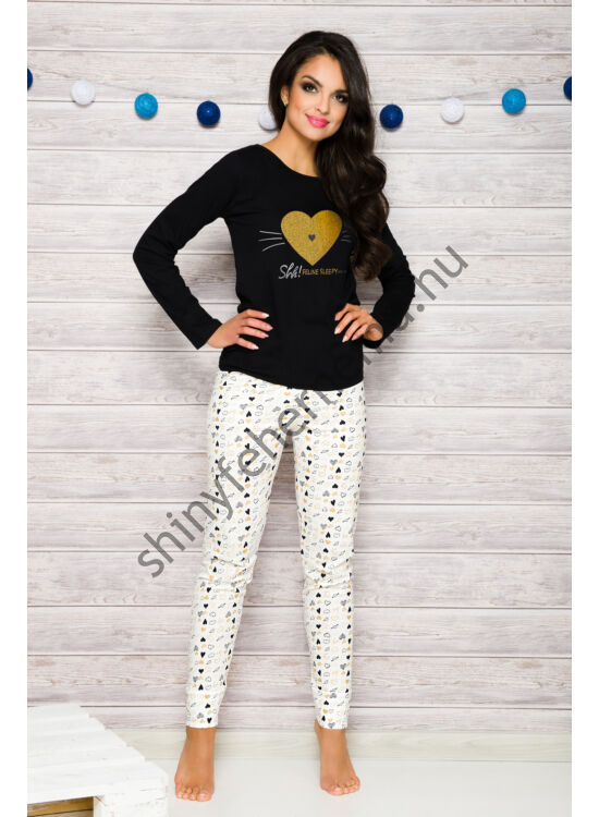 GALA Black-ekrü női pizsama