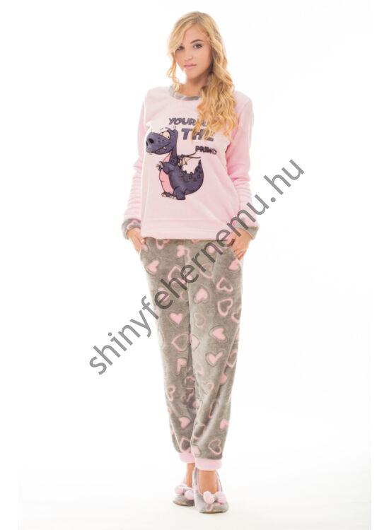 Poppy pizsama Nice SÁRKÁNY szürke-rózsa