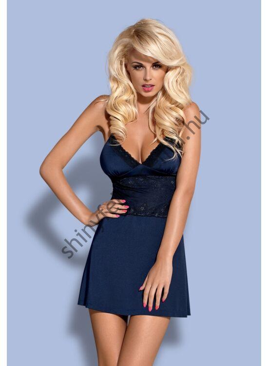 LAMIA Blue fehérnemű, szexi hálóing + tanga