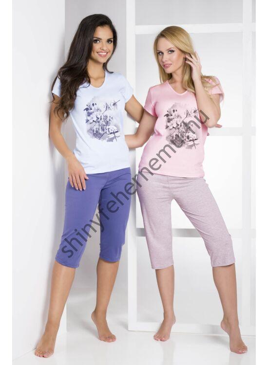 SYLWIA Pink-grey 3/4-es női pizsama