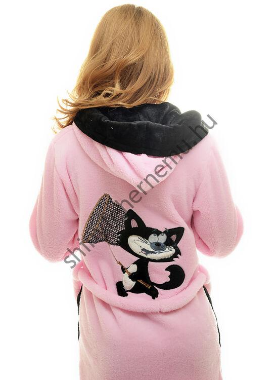 POPPY Cicás köntös rózsaszín-fekete
