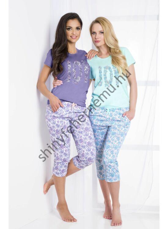 CLEO Türkíz 3/4-es női pizsama