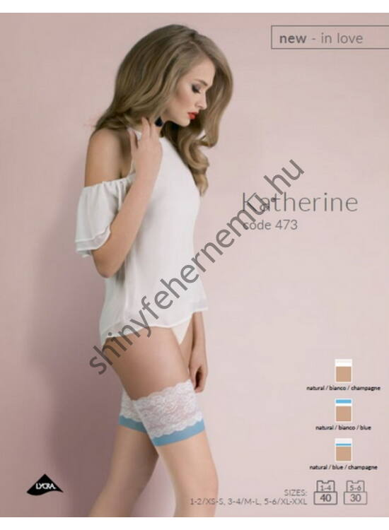 KATHERINE Natural/Bianco/Blue 20denes combfix